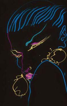 "Illustration by Tony Viramontes. Exhibition ""Bold, beautiful and damned"" till 3rd November 2013 at the Galleria Carla Sozzani (Milan)"