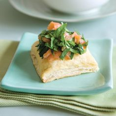 Smoked-Salmon Tartlets [use vegetarian meat substitute for healthy option]