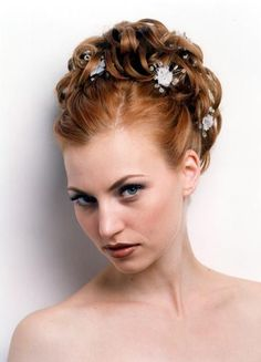 bridal updo for short hair
