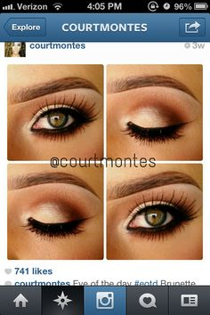 Prom make-up I like the eye shadow color just not the thick line