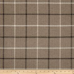 Kaslen Pennington II Plaid Sepia $16.58 per yard Refresh and modernize an old piece of furniture and update it with a new look. This heavyweight woven upholstery fabric is very soft and perfect for accent pillows, upholstering furniture, headboards and ottomans. Colors include grey, ivory, black and taupe.