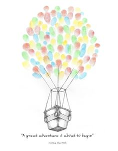 Instant Download!!! Hot Air Balloon Fingerprint Guest Book, Any Event Type, Wall Art, You Print, Original Drawing, Printable Design by PTWatersDesigns on Etsy https://www.etsy.com/ie/listing/245681556/instant-download-hot-air-balloon