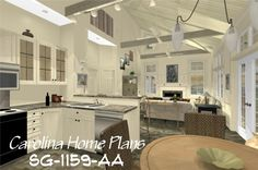 Cottage style home plan SG-1159-AA with spacious open floor layout