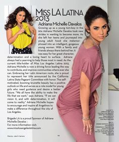 Adriana Michelle - Miss Los Angeles Latina 2013 Brigade Magazine Feature