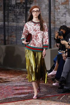 Alexa Chung Makes a Case for the Lamé Midi Skirt - Man Repeller