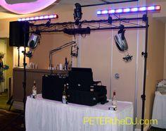 Wedding DJ setup at Emily and Greg's reception, April 2016.