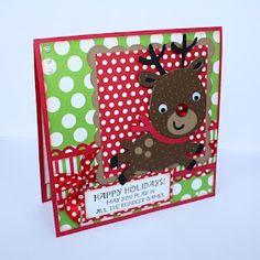 Christmas reindeer card with cricut