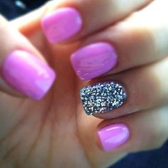 Pink Girly nail polish