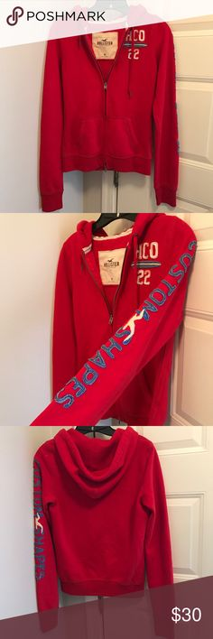 Hollister Zip Up Hooded Sweatshirt Zip up hoodie. Great previously loved condition. Barely ever worn, no damages. Hollister Tops Sweatshirts & Hoodies