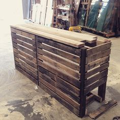 pallet wood counter progress