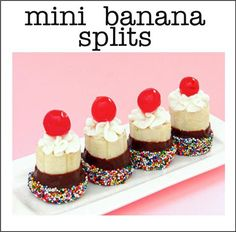 cute idea for easy finger food desserts