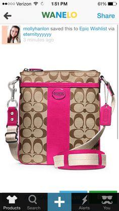 Beautiful Coach crossbody purse-Magenta Coach Swingpack bd1dbd50a4a66
