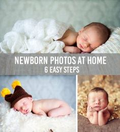 Great step-by-step guide on how to save money and take your own newborn photos