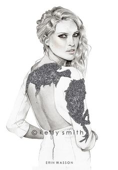 Fashion Illustration tecnhiques of famous fashion illustrator Kelly Smith. Learn the fashion illustration techniques - Ebook and short course Kelly Smith, Fashion Art, Trendy Fashion, Fashion Models, Kelly Fashion, Fashion Painting, Fashion Designers, Girl Fashion, Fashion Trends