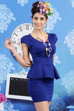 $13.21 Fashion Online Skinny Tight Short Sleeves Dress