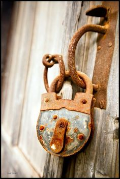 rusty old lock