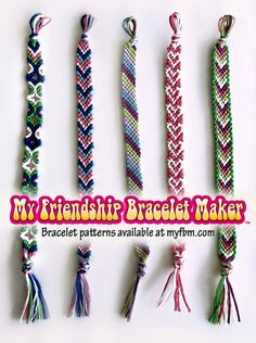 Friendship Bracelet Patterns