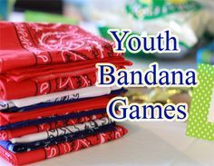 Bandana's are one of those multipurpose items that should be in every youth minister's tool kit. They can be used as blindfolds, to replace a short length of rope, as flags and to identify teams. They can be bought in bulk relatively cheaply. Get enough for your entire youth group to have one each, and in different colors so they can easily be used to identify different teams.