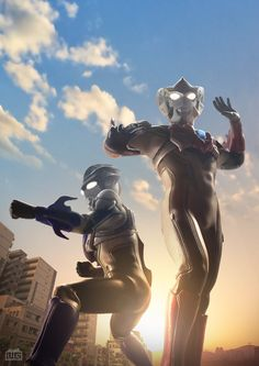 ウルトラマンルーブ(デジラマ) Ultraman Tiga, Superhero Shows, Robot Cartoon, Ultra Series, Hero World, Super Soldier, Kamen Rider, Comic Covers, Godzilla