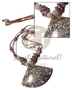 3 Rows Wax Cord Natural Earth Color Necklace