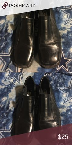 Men's dress shoes Solid black slip ons dress shoes. Like new. Size 12 Shoes Loafers & Slip-Ons