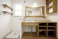 造作洗面台/洗面室/木の洗面台/ナチュラルインテリア/インテリア/注文住宅/施工例/ジャストの家/washstand/lavatory/powderroom/bathroom/vanity/natural/design/interior/house/homedecor