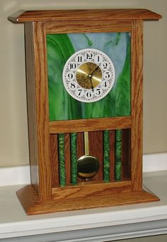 Glass Clock with Columns - The Dale Maley Family Web Site