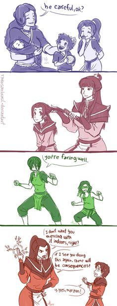 Brilliant! I turn into Azula when my boys practice sports in my living room...Mommies by RyokoSanBrasil.deviantart.com on @DeviantArt