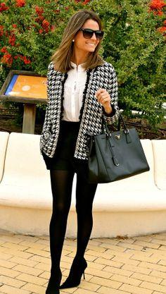Shop this look on Kaleidoscope (blazer, skirt, top, purse, pumps)  http://kalei.do/WN4fY28tM2WVm4jk