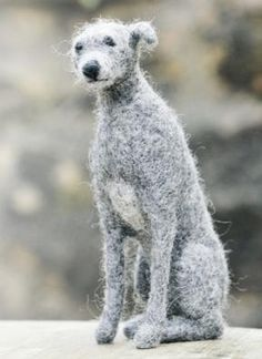 ... felted dog by tracey davies, uk country living magazine ...