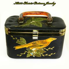 Box Purse – 1950s/60s – Lily BET of the Palm Beaches – Bird Motif from katesclassiccostume on Ruby Lane