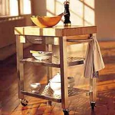 "John Boos & Co. Maple Kitchen Cart, 30"" x 20"" 