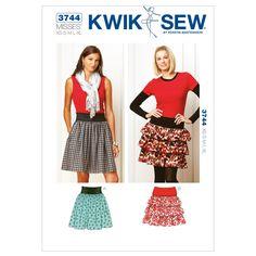 Kwik Sew K3744 Skirts Sewing Pattern, Size XS-S-M-L-XL