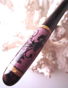The Petite Lacy Vine Hair Stick Featuring by TimberstoneTurnings