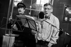 A Liar's Autobiography - The Untrue story of Monty Python's Graham Chapman. Michael Palin recording his voice overs. Photography by Paul Jeffers