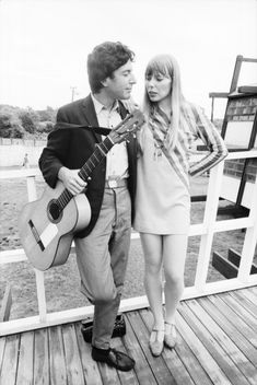 "Joni Mitchell and Leonard Cohen       ""With a painting, you don't have to go back and paint it again...."" -Joni"