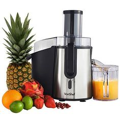 VonShef Professional Powerful Wide Mouth Whole Fruit Juicer Machine Max Power Motor with Juice Jug and Cleaning Brush Fruit Juicer, Citrus Juicer, Vegetable Juicer, Juicer Reviews, Centrifugal Juicer, Juicer Machine, Power Motors, Best Juicer, Juice Extractor