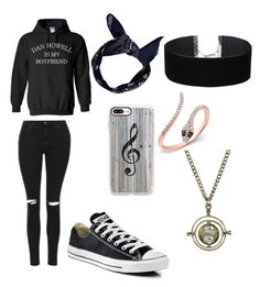 """""""Untitled #66"""" by chandler-jezowski ❤ liked on Polyvore featuring Topshop, Boohoo, Miss Selfridge, Casetify, Converse, Anne Sisteron and Warner Bros."""
