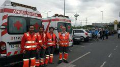 """Voluntarios/as de Cruz Roja Encartaciones y Durango en cobertura sanitaria """"Ciclista Autonervión"""" en Valle de Trápaga."""