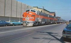 "Western Pacific ""California Zephyr"" at the 3rd St. station in Oakland, Cal. on it's way to Chicago. 1967."