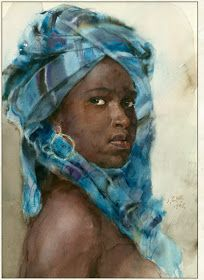 Fine Giclees - Archival Quality Prints of Guan Weixing Watercolor Paintings by Ambleside Gallery — Guan Weixing African American Art, African Art, Watercolor Portraits, Watercolor Paintings, Watercolours, Painting People, Art Academy, Afro Art, Art Plastique