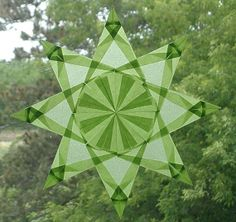 Origami+Window+Star+made+with+Pale+Green+by+harvestmoonbyhand,+$11.00