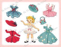 Printable Paper Doll Instant Download by TheVintageRemix on Etsy, $3.75
