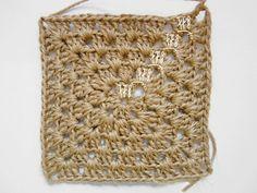 crochet jute granny square