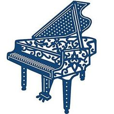 Tattered Lace Metal Die Piano