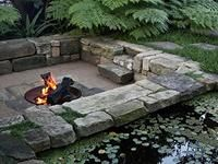 I Really Like This Very Simple Pit Just Below Ground Level The Walls Act As Seating A Nice Alternative To Raised Backyard Fire Pits In 2018