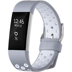 Fitbit Charge 2 HR Adjustable Band Replacement Wristband Gray+White Small New   Sporting Goods, Fitness, Running & Yoga, Fitness Technology   eBay!
