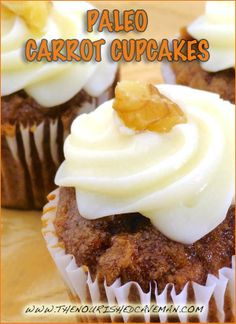 Paleo Carrot Cupcakes! A lovely guest post by Jess from Nummy for My Tummy especially for The Nourished Caveman!