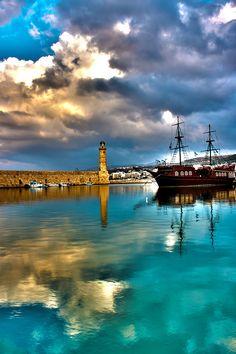 Lighthouse Rethymno, Crete, Greece