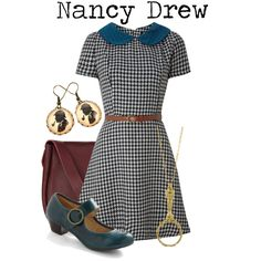 Nancy Drew outfit.  LOVE IT!!!